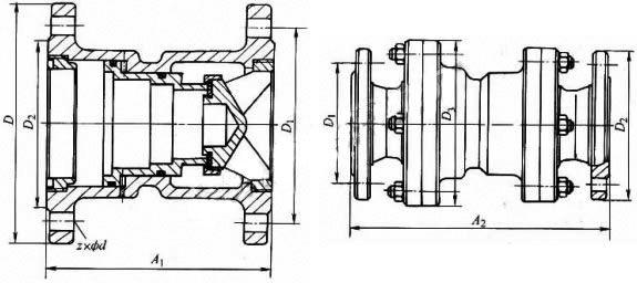Y43X 型 PN10~PN16外形尺寸图