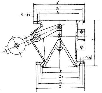 钟型卸灰阀结构图