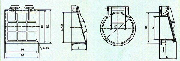 铸铁拍门结构图
